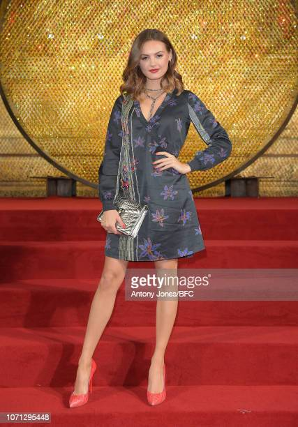 Niomi Smart arrives at The Fashion Awards 2018 In Partnership With Swarovski at Royal Albert Hall on December 10 2018 in London England