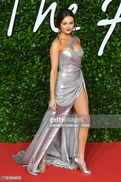 Niomi Smart arrives at The Fashion Awards 2019 held at Royal Albert Hall on December 02 2019 in London England