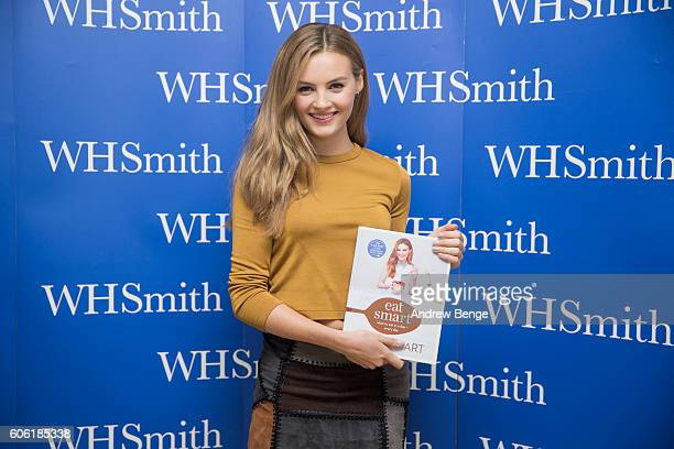 Niomi Smart attends a signing for her book 'Eat Smart' at WHSmith on September 16 2016 in Leeds United Kingdom
