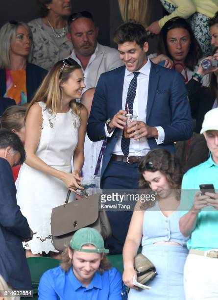 Niomi Smart attends day eleven of the Wimbledon Tennis Championships at the All England Lawn Tennis and Croquet Club on July 14 2017 in London United...