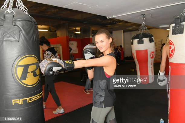 Niomi Smart attends Exercise for Epilepsy in aid of National Epilepsy Week at Box Clever Sports on May 14 2019 in London England