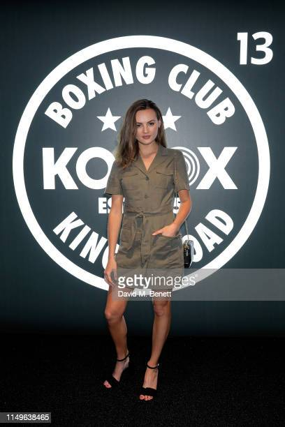 Niomi Smart attends KOBOX New Flagship studio launch party on King's Road on May 16 2019 in London England
