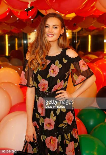 Niomi Smart attends the kate spade new york popup party on April 26 2018 in London England