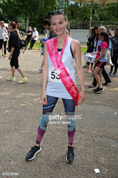 Niomi Smart attends the Lady Garden 5K 10K run in aid of Silent No More Gynaecological Cancer Fund in Hyde Park on June 9 2018 in London England