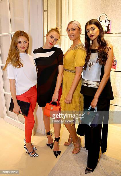 Niomi Smart Becky Tong Amber le Bon and Neelam Gill attend the opening of the House Of Dior on New Bond Street on June 8 2016 in London England