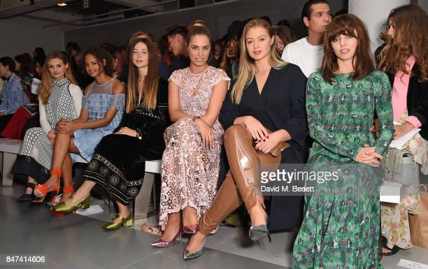 Niomi Smart Malaika Firth Flo Morrissey Amber Le Bon Iskra Lawrence and Ophelia Lovibond attend the Bora Aksu show during London Fashion Week...