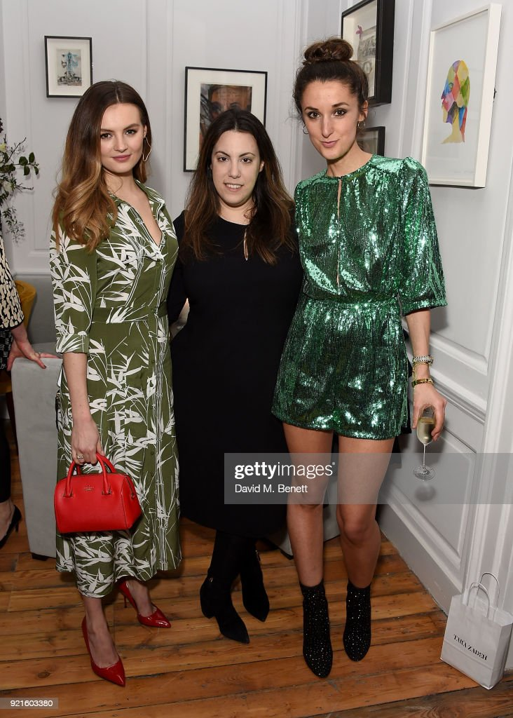 Niomi Smart, Mary Katrantzou and Rosanna Falconer attend the first female-only members' club in the UK for working women - The AllBright - that opens its doors to celebrities, politicians and influencer's on February 20, 2018 in London, England.