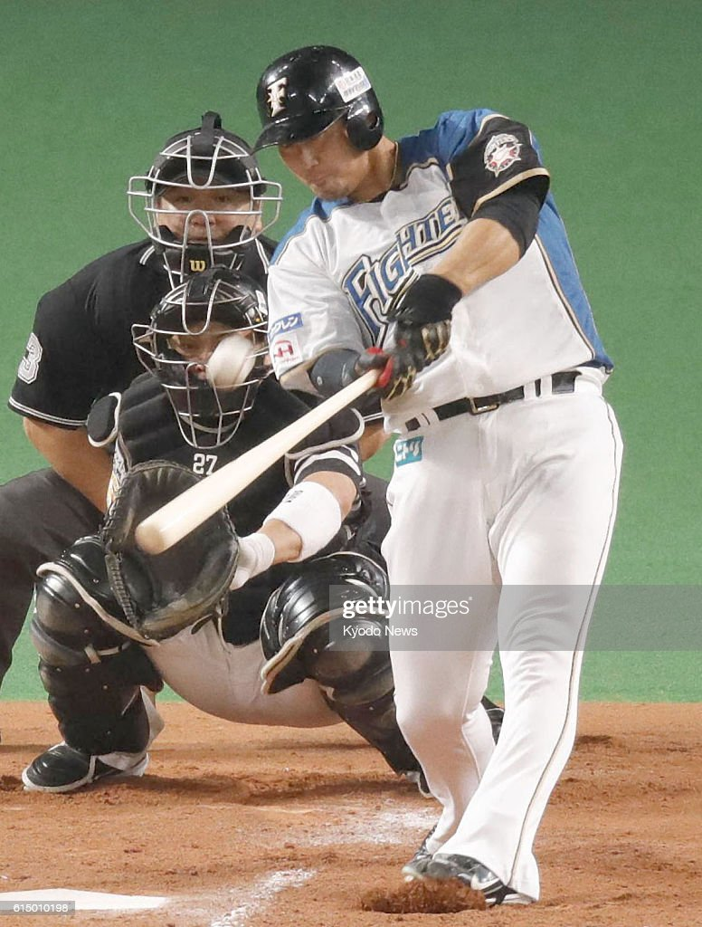 Fighters come back from 4 runs down for Japan Series berth : News Photo
