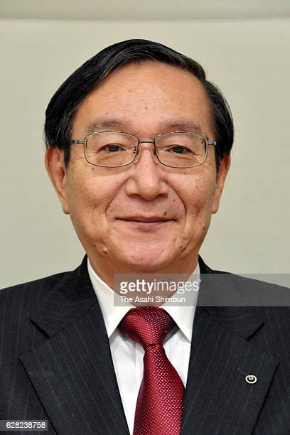 Nippon Telegraph and Telephone President Hiroo Unoura speaks during the Asahi Shimbun interview at the company headquarters on December 7 2016 in...