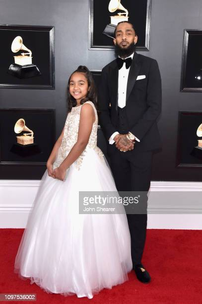 Nipsey Hussle and guest attend the 61st Annual GRAMMY Awards at Staples Center on February 10 2019 in Los Angeles California