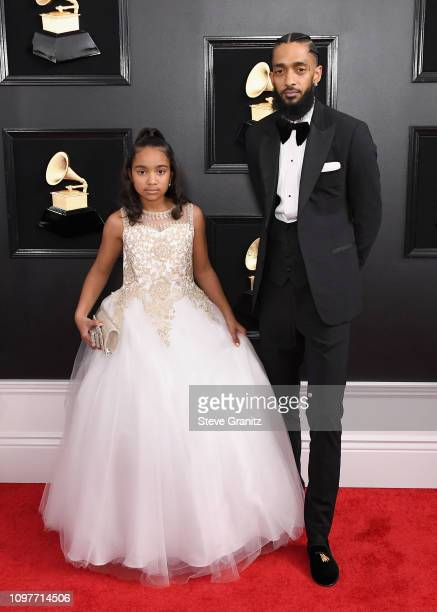 Nipsey Hussle and guest attends the 61st Annual GRAMMY Awards at Staples Center on February 10 2019 in Los Angeles California
