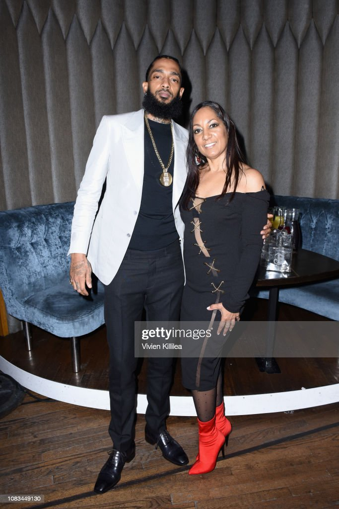 Nipsey Hussle and his mother attend the PUMA x Nipsey Hussle 2019 ... 48831520a