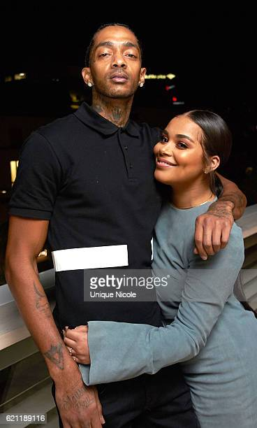 Nipsey Hussle and Lauren London attend Private Birthday Dinner For Author/Social Media Star Karen Civil at Louis Vuitton Rodeo Drive on November 4...