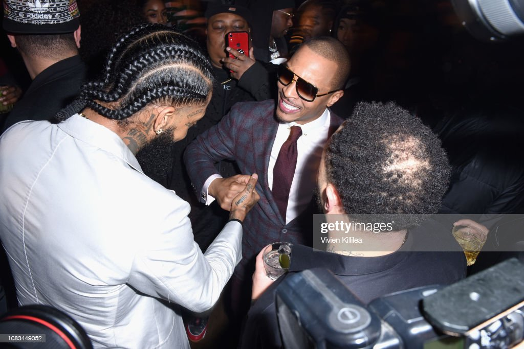 Nipsey Hussle and T.I. attend the PUMA x Nipsey Hussle 2019 Grammy ... eedb56e05