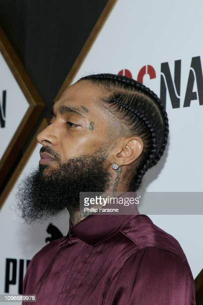 Nipsey Hussle attends 2019 Roc Nation THE BRUNCH on February 9 2019 in Los Angeles California