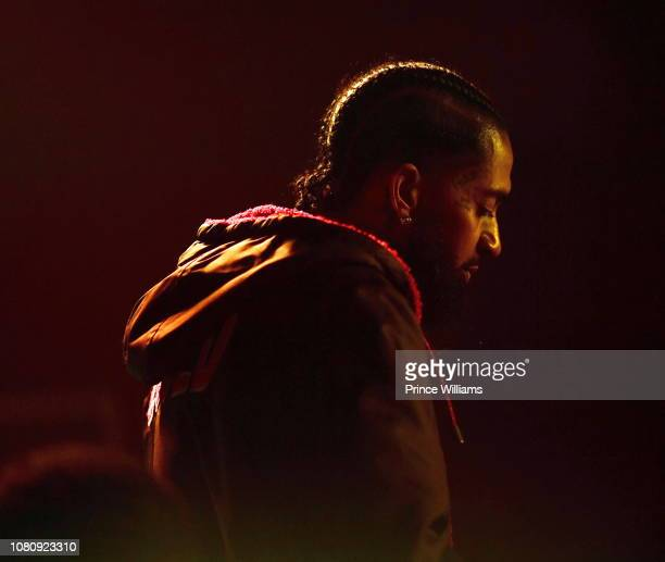 Nipsey Hussle attends A Craft Syndicate Music Collaboration Unveiling Event at Opera Atlanta on December 10 2018 in Atlanta Georgia
