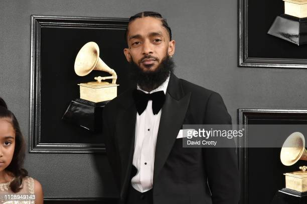 Nipsey Hussle attends the 61st Annual Grammy Awards at Staples Center on February 10 2019 in Los Angeles California