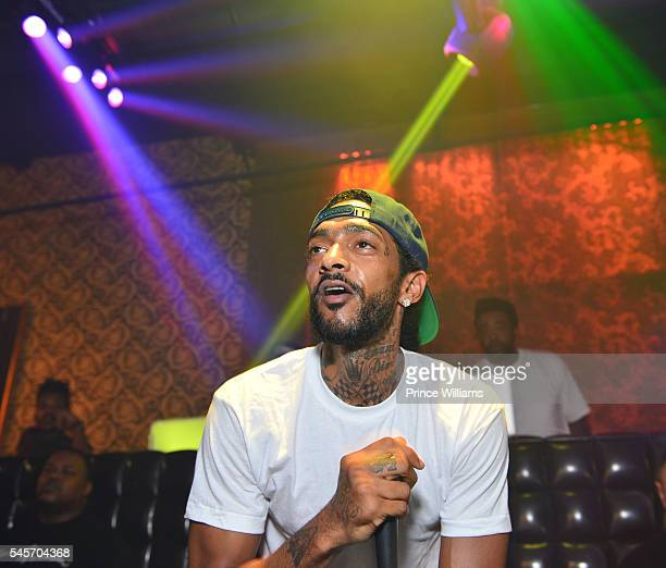 Nipsey Hussle attends The Eritrean soccer Tournament after party at Medusa on July 9 2016 in Atlanta Georgia
