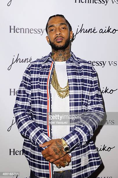 Nipsey Hussle attends the Jhene Aiko Souled Out event sponsored by Hennessy VS on September 9 2014 in West Hollywood California