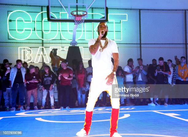 Nipsey Hussle performs during EA SPORTS NBA Live 19 at Goya Studios on August 24 2018 in Los Angeles California