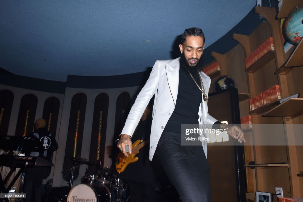PUMA x Nipsey Hussle 2019 Grammy Nomination Party : News Photo