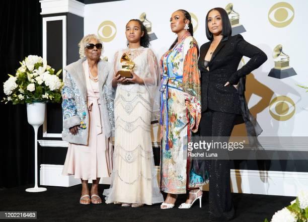 Nipsey Hussle's grandmother Margaret Bouffe Nipsey Hussle's daughter Emani Asghedom Nipsey Hussle's sister Samantha Smith and Nipsey Hussle's wife...