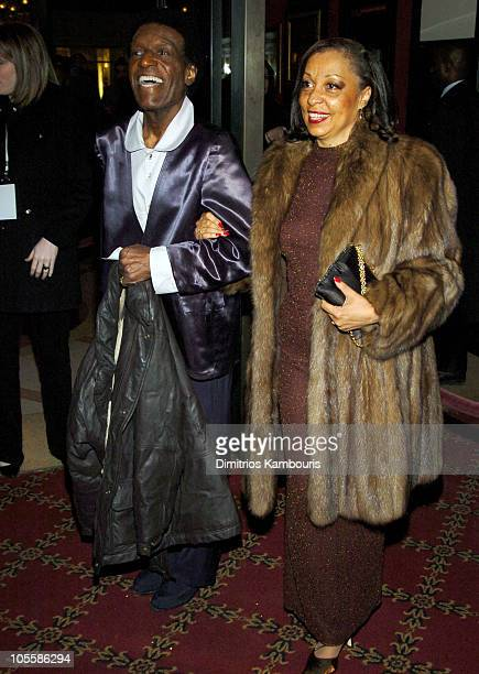 Nipsey Russell and guest during The Aviator New York City Premiere Inside Arrivals at Ziegfeld Theater in New York City New York United States
