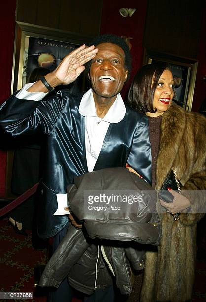 Nipsey Russell and Robbi Robinson during The Aviator New York City Premiere Inside Arrivals at Ziegfeld Theater in New York City New York United...