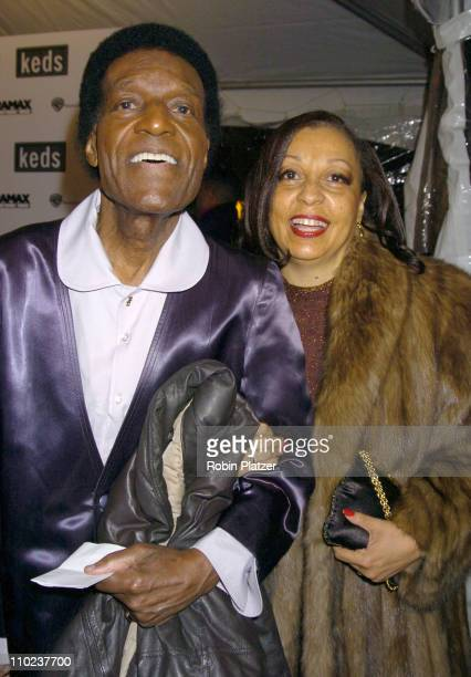 Nipsey Russell and Robbi Robinson during The Aviator New York City Premiere Outside Arrivals at Ziegfeld Theatre in New York City New York United...