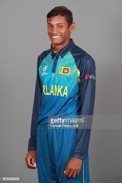 Nipun Malinga poses during the Sri Lanka ICC U19 Cricket World Cup Headshots Session at Rydges Christchurch on January 8 2018 in Christchurch New...