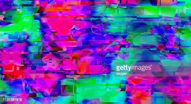 nique design abstract digital pixel noise glitch error video damage - 問題 ストックフォトと画像