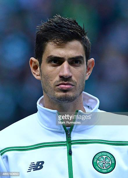 Nir Bitton of Celtic in action during the UEFA Champions League Qualifying play off first leg match between Celtic FC and Malmo FF at Celtic Park on...