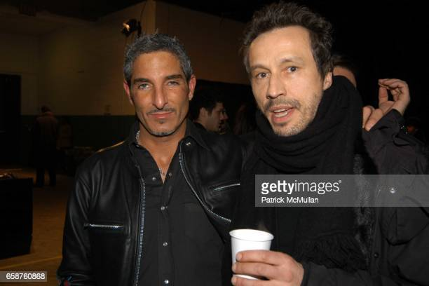 Nir Kahn and Michael Wincott attend Marc Jacobs Fall 2004 Collection Show at The New York State Armory on February 9 2004 in New York City