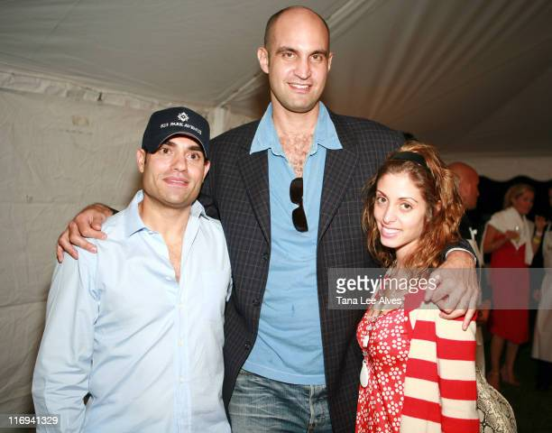 Nir Meir Simon Lincoln and Brie Batbaccia during Hamptons Magazine's Cindi Cook and Cristina Cuomo Host Ruinart Champaign Experience with Kathy...