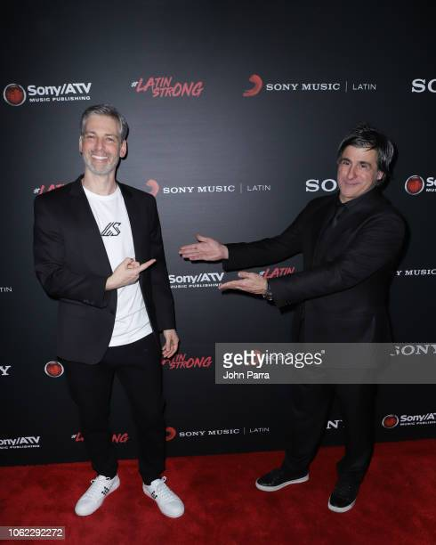 Nir Seroussi and Afo Verde arrive at Sony Music Latin Official Latin Grammy's After Party on November 15 2018 in Las Vegas Nevada