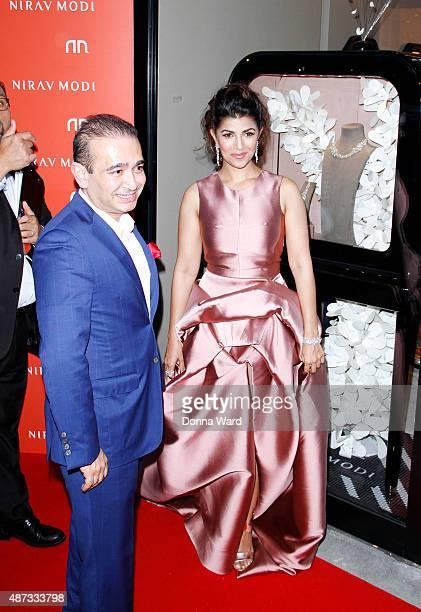 Nirav Modi and Nimrat Kaur appear at Nirav Modi boutique on September 8 2015 in New York City