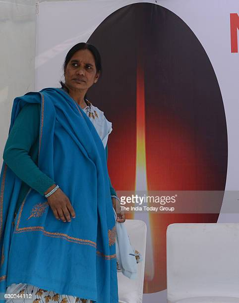 Nirbhaya's mother Asha Devi during floral tribute to ' Nirbhaya' on the occasion of 'Nirbhaya Chetna Diwas' 16 December 2016 Programme Organised by...