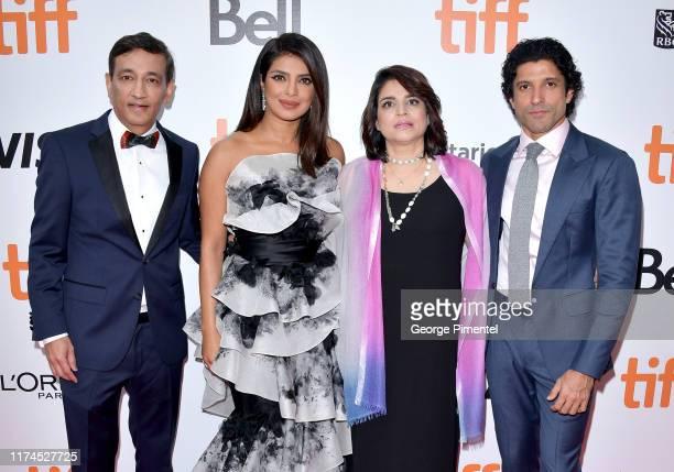 Niren Chaudhary Priyanka Chopra Jonas Aditi Chaudhary and Farhan Akhtar attend The Sky Is Pink premiere during the 2019 Toronto International Film...