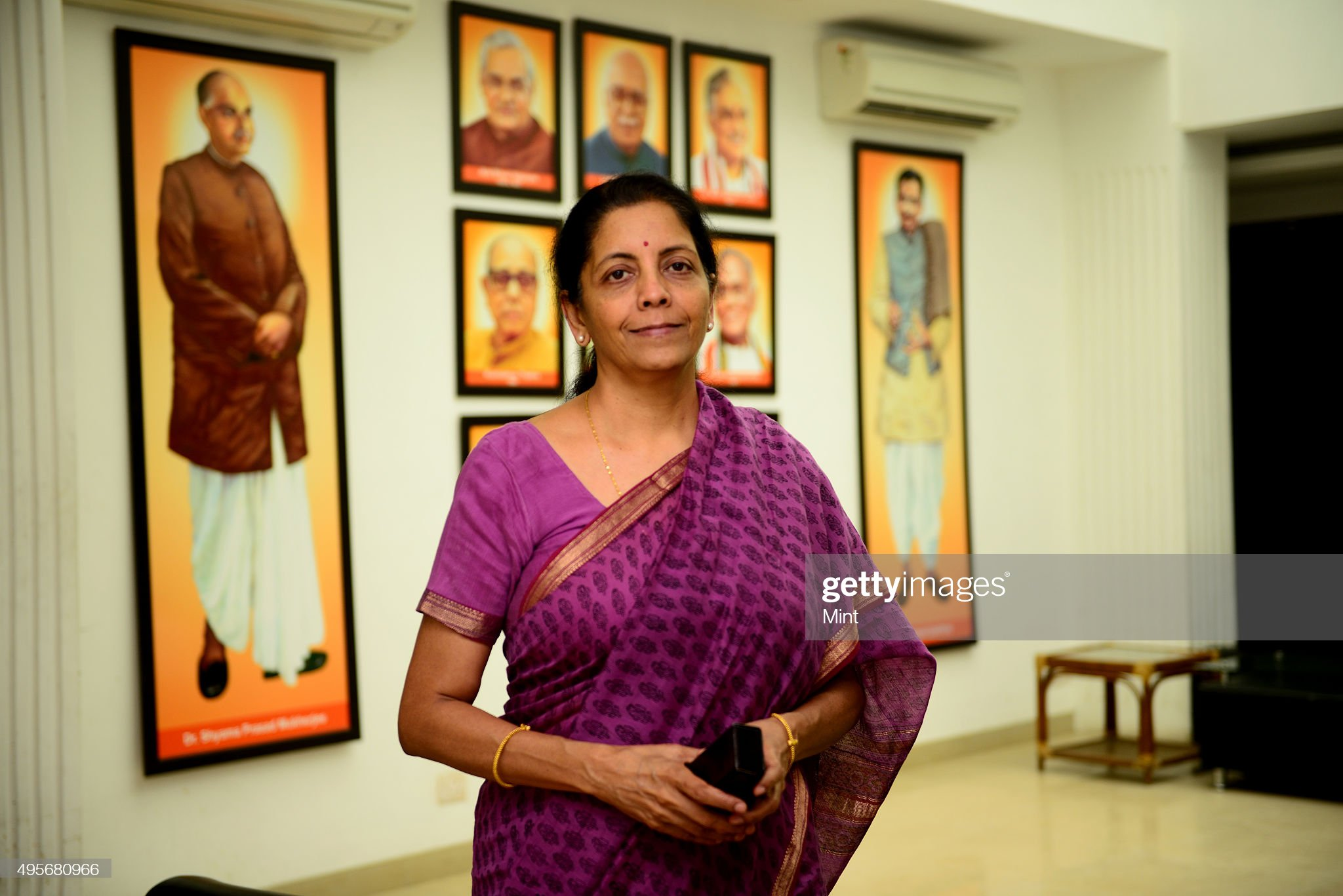 (Mint Exclusive) Profile Shoot Of BJP Spokesperson Nirmala Sitharaman : News Photo