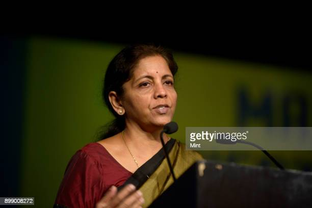 Nirmala Sitharaman Minister of State for Commerce and Industry during Make In India Week in Mumbai