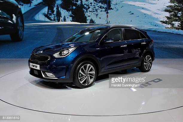 Niro is displayed during the Geneva Motor Show 2016 on March 2 2016 in Geneva Switzerland