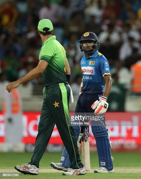 Niroshan Dickwella of Sri Lanka looks on during the first One Day International match between Pakistan and Sri Lanka at Dubai International Stadium...
