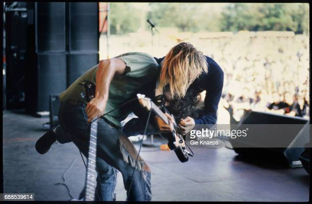 Nirvana, Kurt Cobain, Krist Novoselic, Pukkelpop Festival, Hasselt, Belgium, .