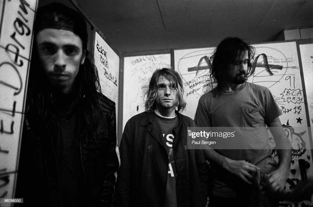 Nirvana Posed In Frankfurt 1991 : News Photo