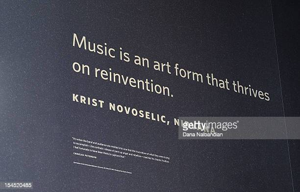 Nirvana quote on the wall at Experience Music Project on October 20, 2012 in Seattle, Washington.