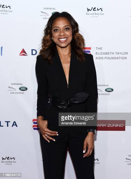 Nischelle Turner arrives at a cocktail reception benefiting The Elizabeth Taylor AIDS Foundation at the Mark Zunino Atelier on November 07 2019 in...