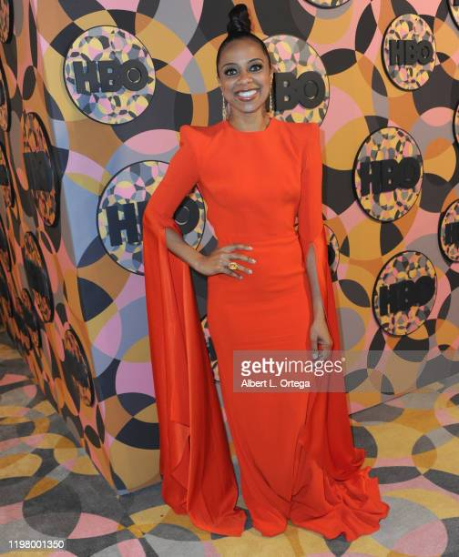 Nischelle Turner arrives for the HBO's Official Golden Globes After Party held at Circa 55 Restaurant on January 5 2020 in Los Angeles California