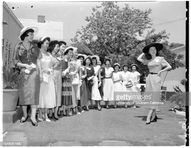Nisei Queen candidates 5 August 1951 Tami KoideAiko OgomoriSuzie [Susie] YamashitaKay FujiharaSachi Kazunaga [Kazumoga]Florence WadaMargaret...