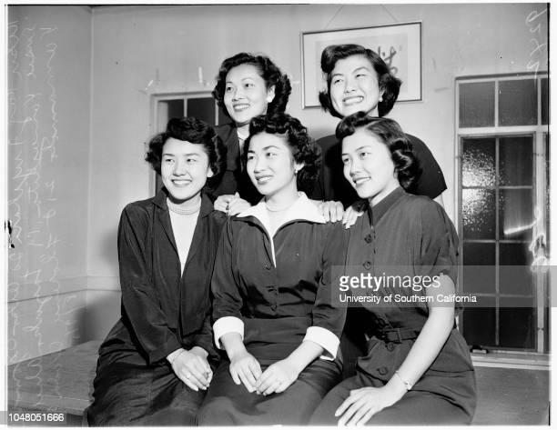 Nisei Queen candidates 9 August 1951 Kiku Kay Fujihara 20 yearsAiko Ogomori 18 yearsSusie Yamashita 19 yearsFlorence Wada 20 years