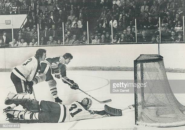 nish of a picture play Superstar Bobby Orr completes endend rush by pulling Leaf goaltender Gord McRae out of position and tucking puck into net in...